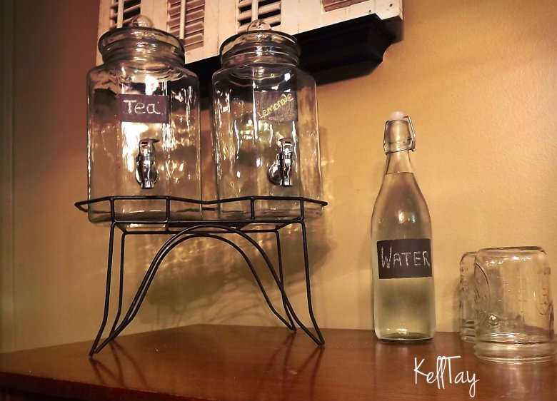lemonade tea and water bottle