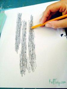 pencil transfer
