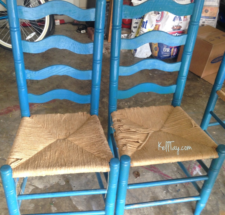 chairs to bench upcycle