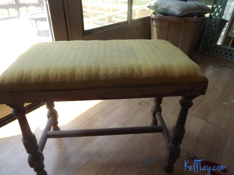 vanity bench foam top before