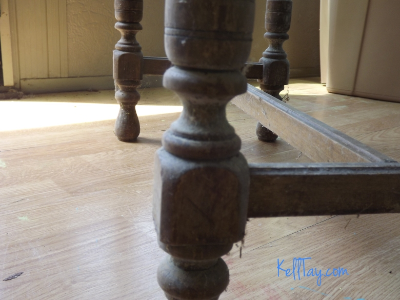 vanity bench leg before
