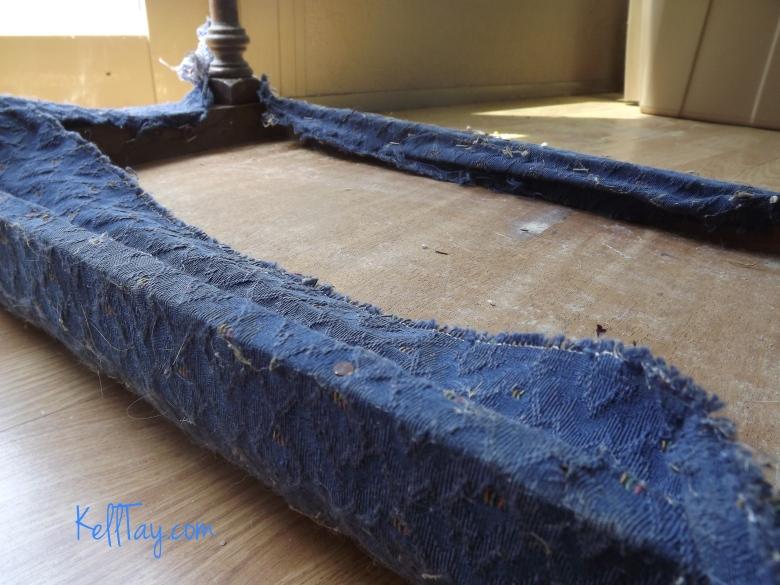 vanity bench remove fabric