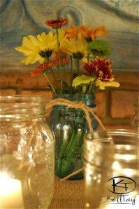 flowers on altar
